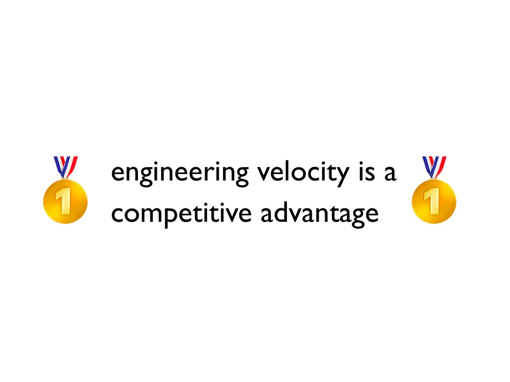 engineering velocity is a competitive advantage