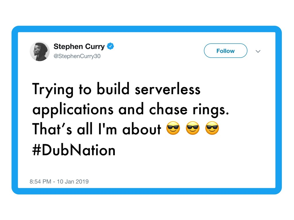 Trying to build serverless applications and cha...