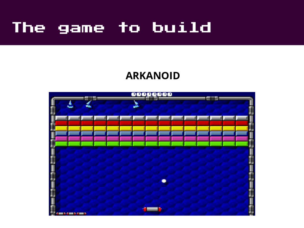 The game to build ARKANOID
