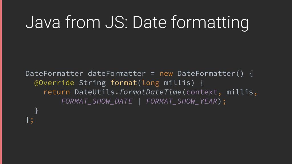 Java from JS: Date formatting DateFormatter dat...