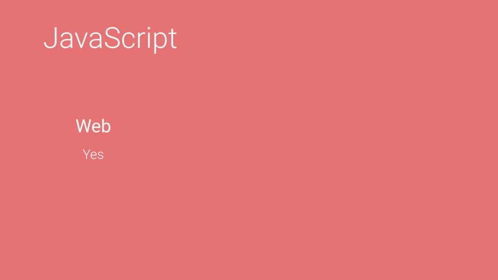 JavaScript Web Yes
