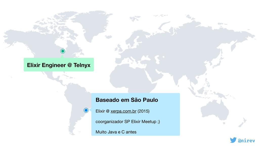 @nirev Elixir Engineer @ Telnyx Baseado em São...