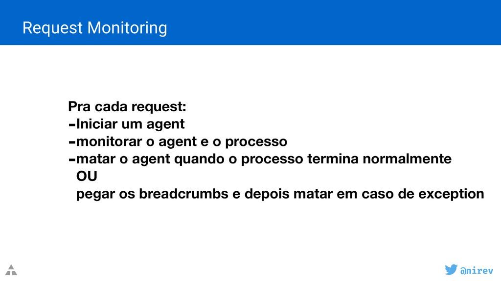 @nirev Request Monitoring Pra cada request: -In...