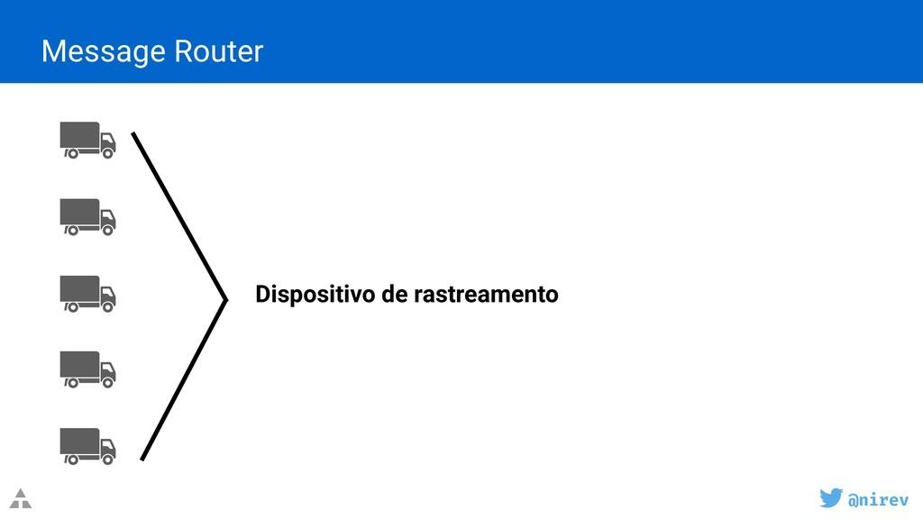 @nirev Message Router Dispositivo de rastreamen...