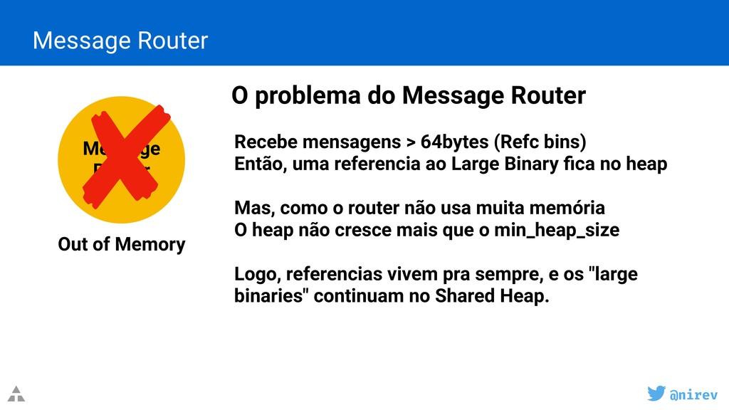 @nirev Message Router O problema do Message Rou...