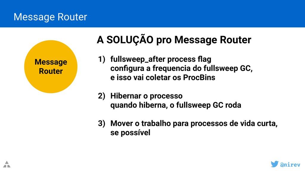 @nirev Message Router A SOLUÇÃO pro Message Rou...