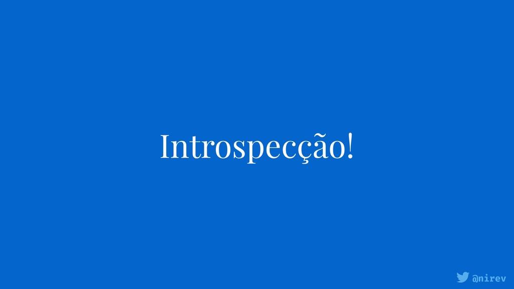 @nirev Introspecção!