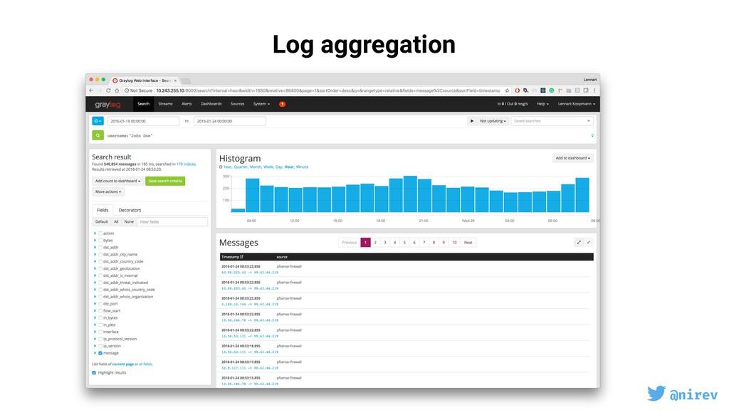 @nirev Log aggregation