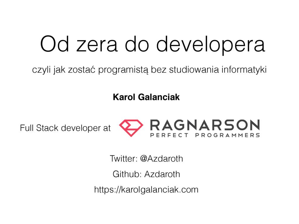 Od zera do developera czyli jak zostać programi...