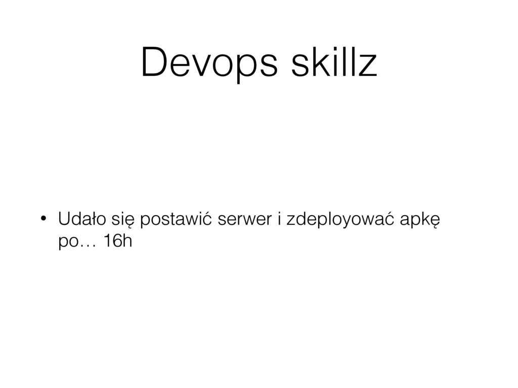 Devops skillz • Udało się postawić serwer i zde...