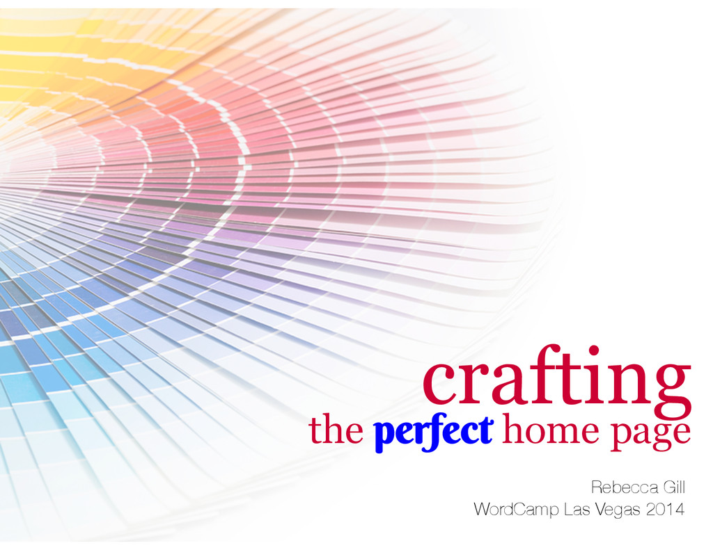 Rebecca Gill WordCamp Las Vegas 2014 crafting...