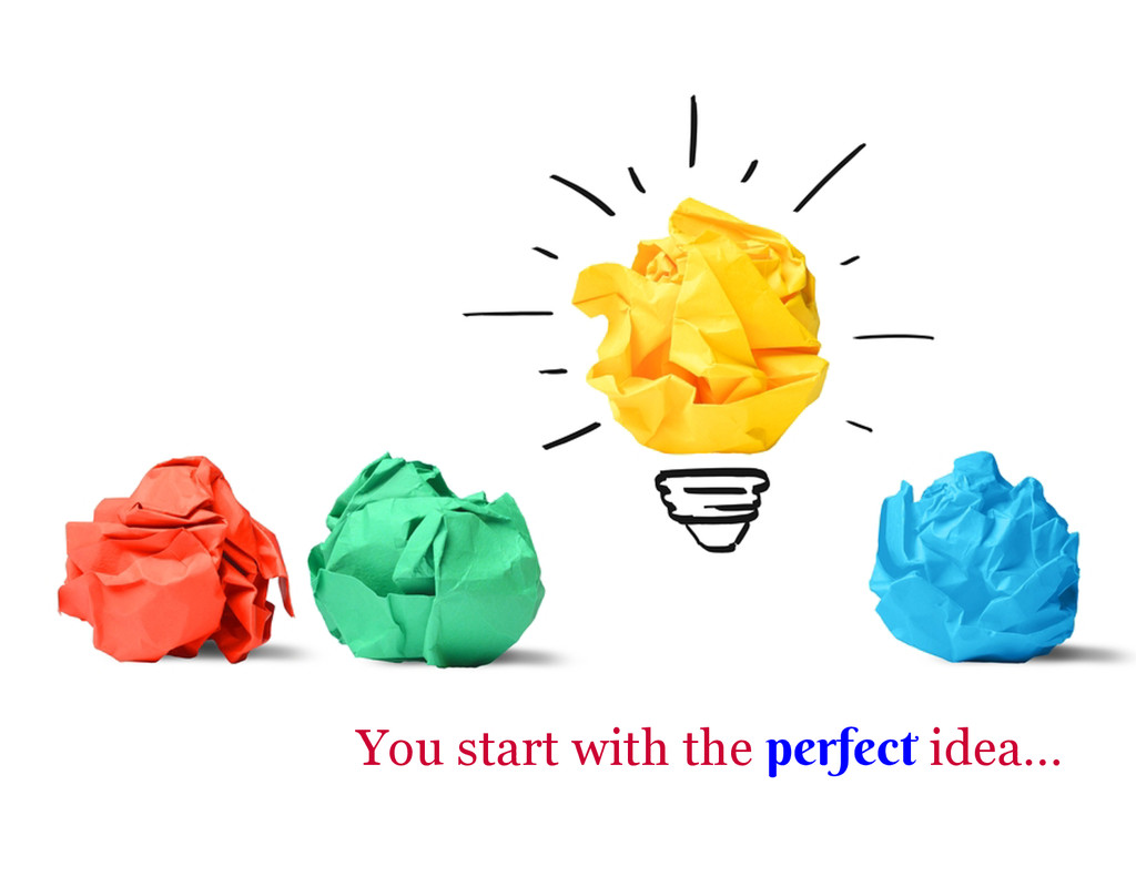 You start with the perfect idea…