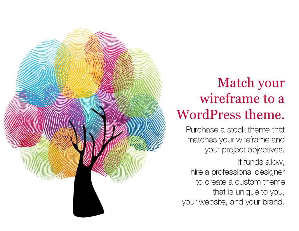 Match your wireframe to a WordPress theme. Purc...