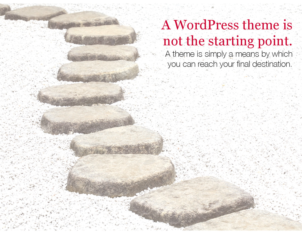 A WordPress theme is not the starting point. A ...