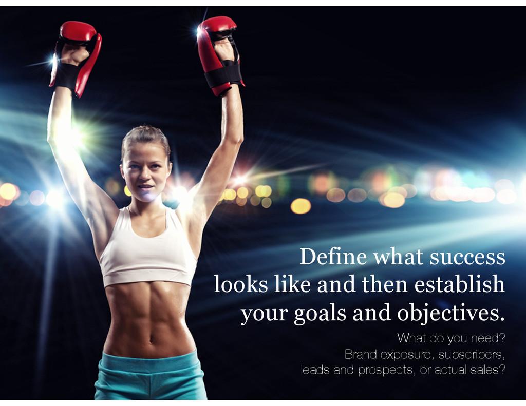 Define what success looks like and then establi...