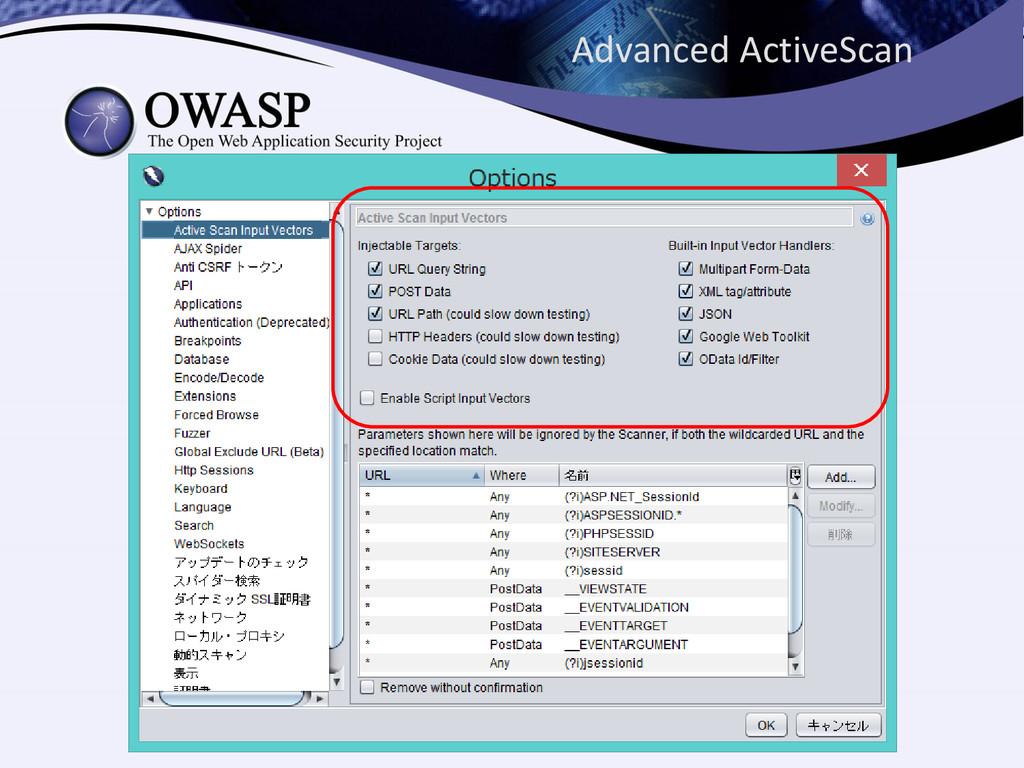 Advanced ActiveScan