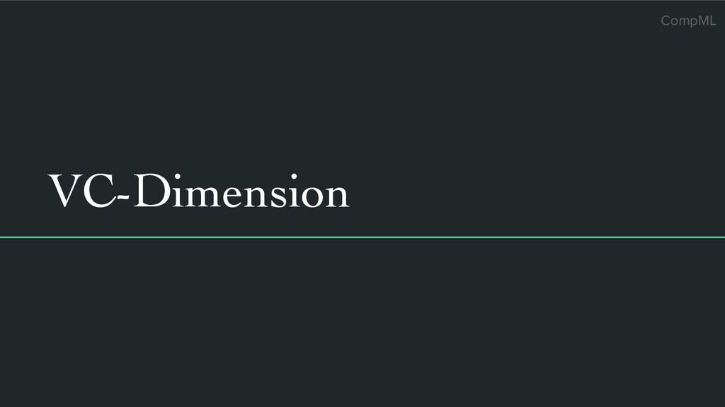CompML VC-Dimension