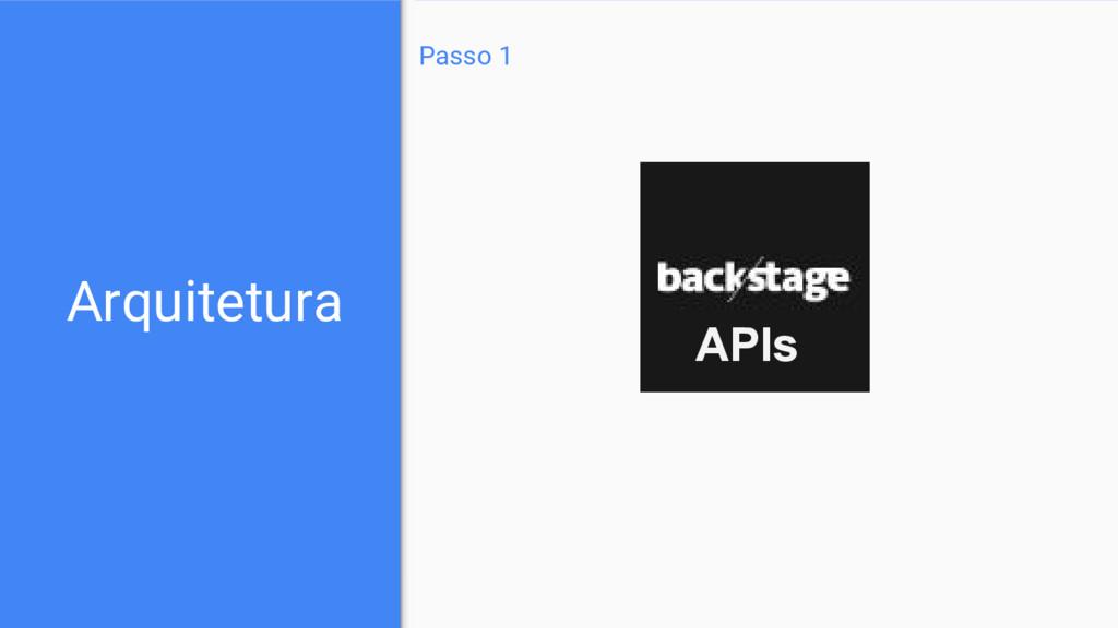 Arquitetura Passo 1 APIs