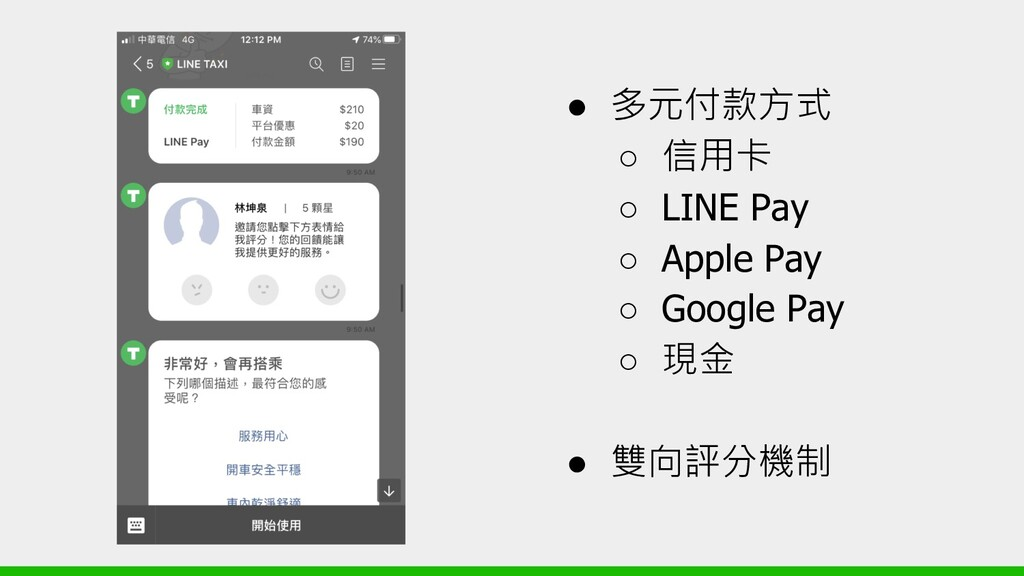 ●   ○  ○ LINE Pay ○ Apple Pay ○ Google P...