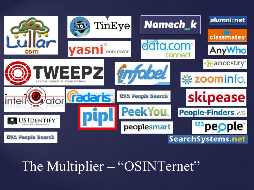 "The Multiplier – ""OSINTernet"""