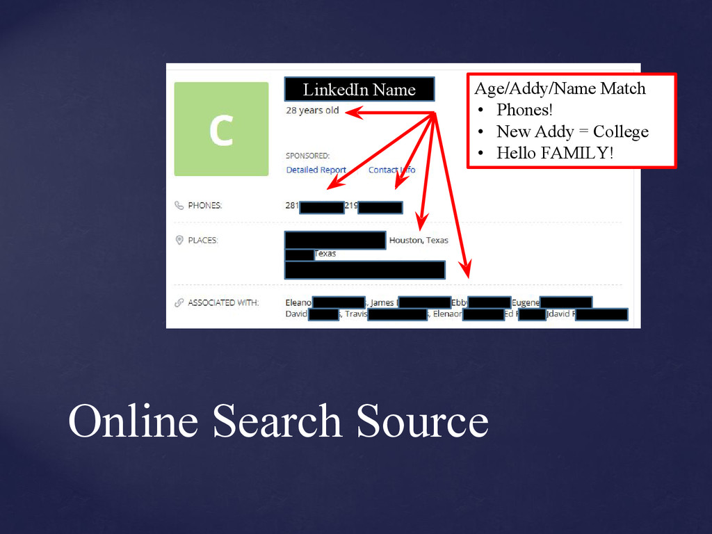 Online Search Source S for snoop? LinkedIn Name...