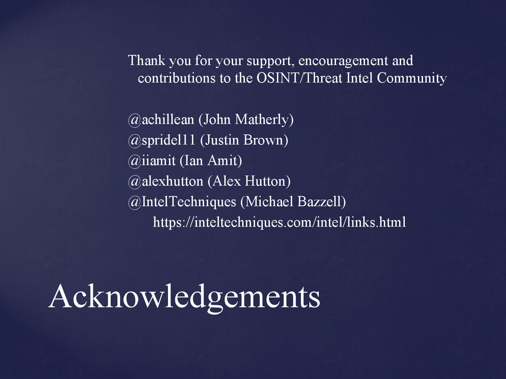 Acknowledgements Thank you for your support, en...
