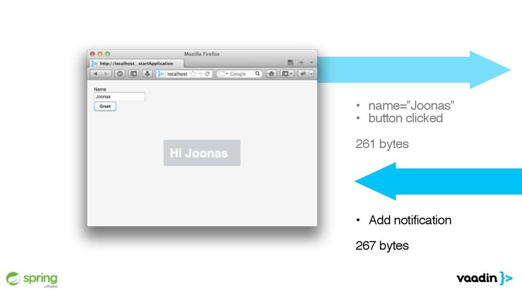 """• name=""""Joonas"""" • button clicked 261 bytes • A..."""