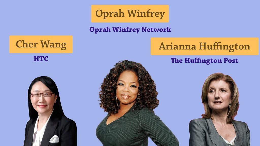 Cher Wang Oprah Winfrey Arianna Huffington Oprah ...