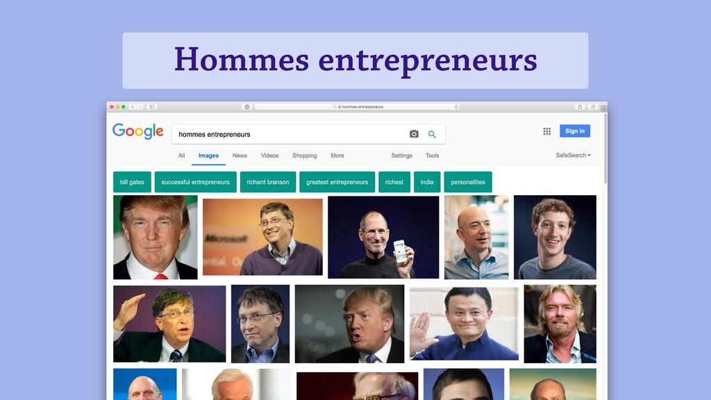 Hommes entrepreneurs Bullet 1 Bullet 2 Bullet 3...