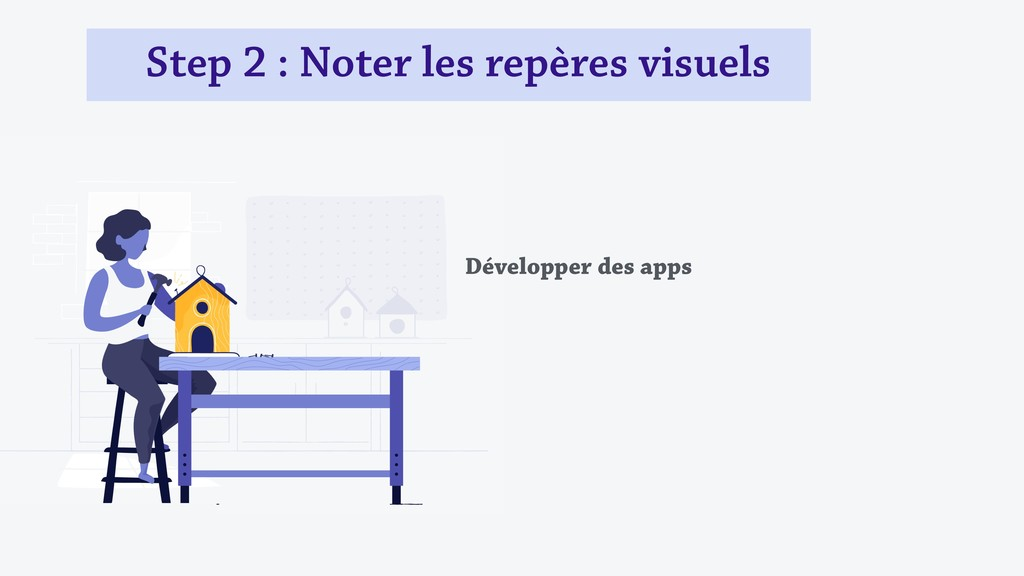 Step 2 : Noter les repères visuels Développer d...