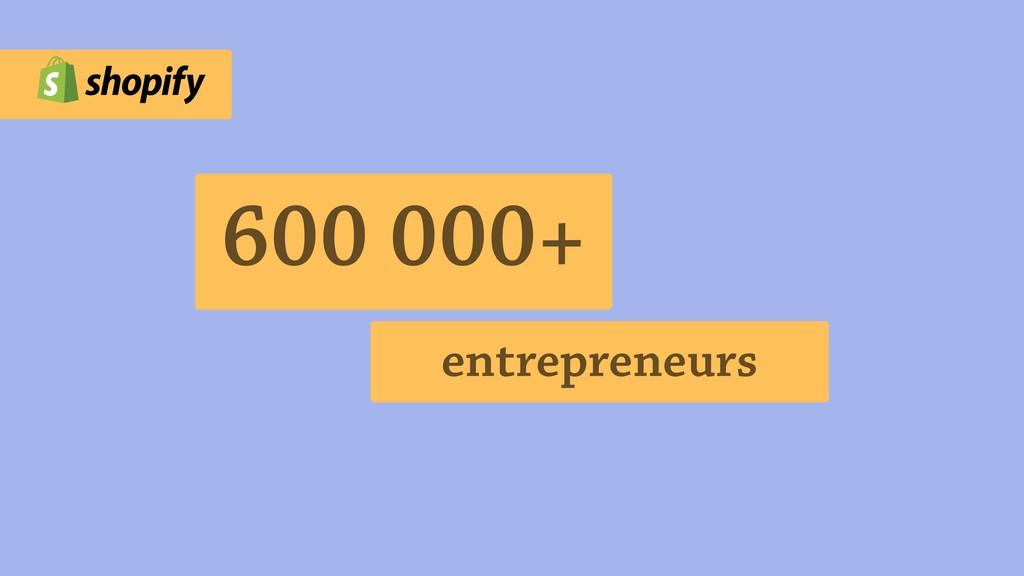 600 000+ entrepreneurs