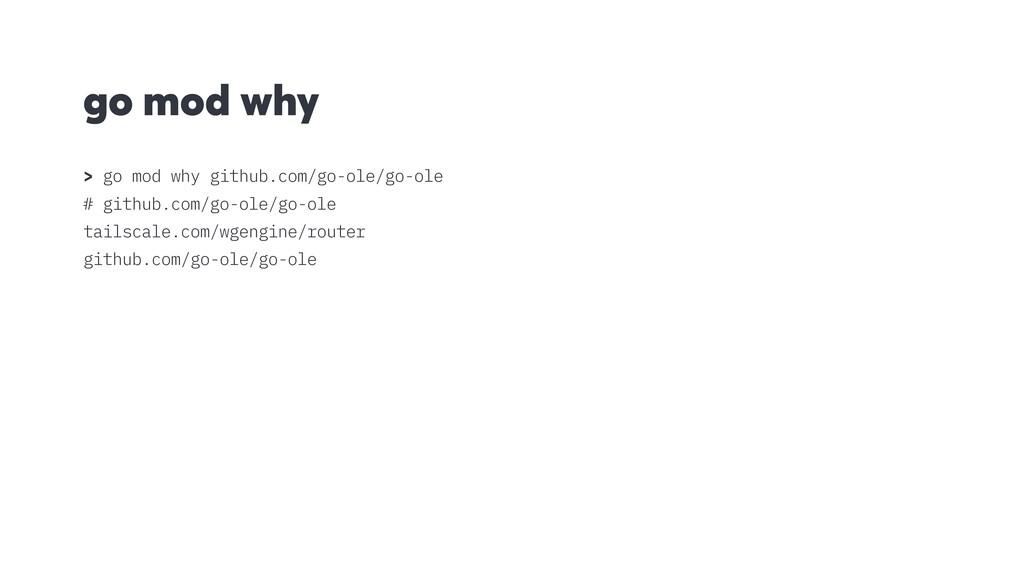 go mod why > go mod why github.com/go-ole/go-ol...