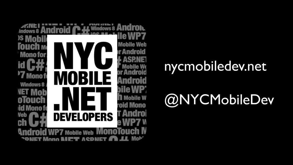 nycmobiledev.net @NYCMobileDev