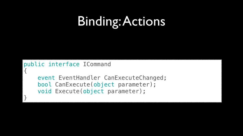 Binding: Actions
