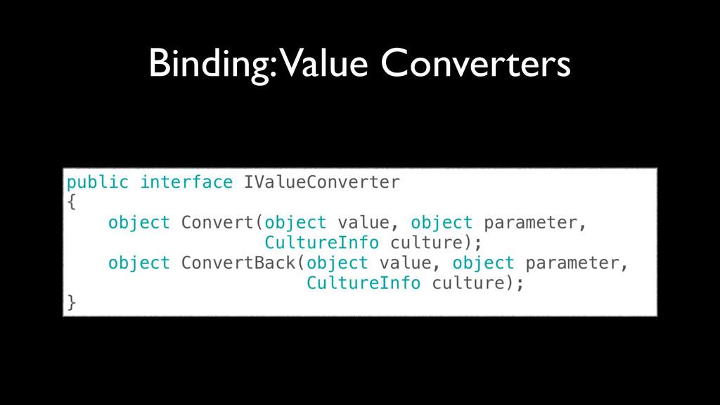 Binding: Value Converters