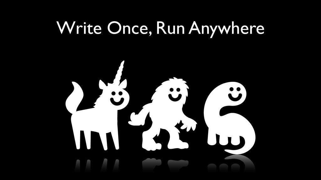 Write Once, Run Anywhere