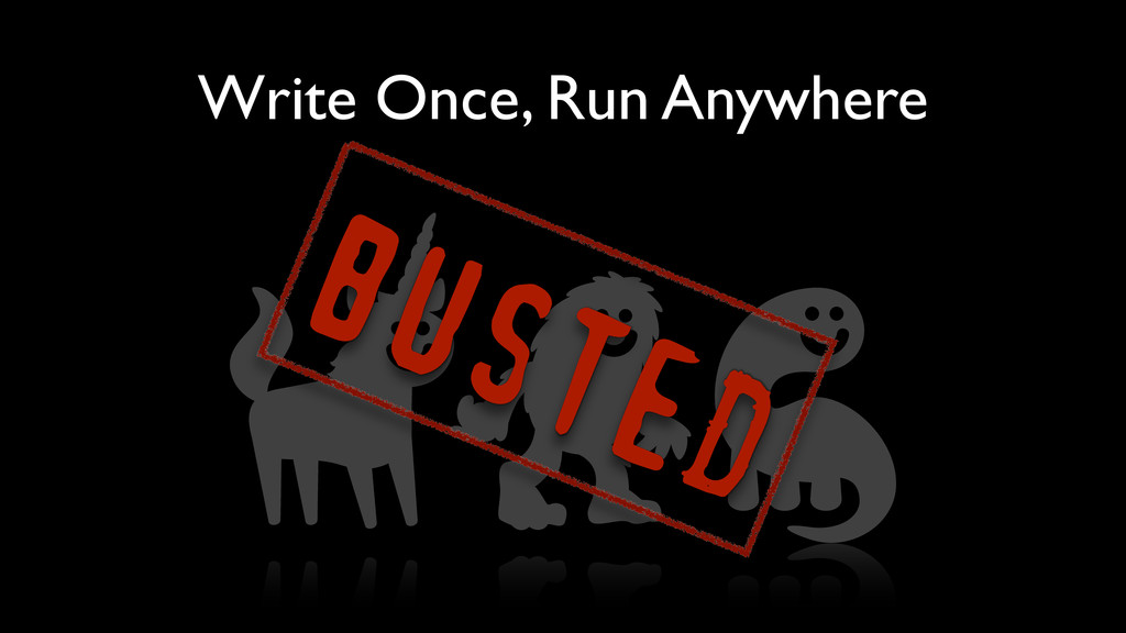 Write Once, Run Anywhere BUSTED