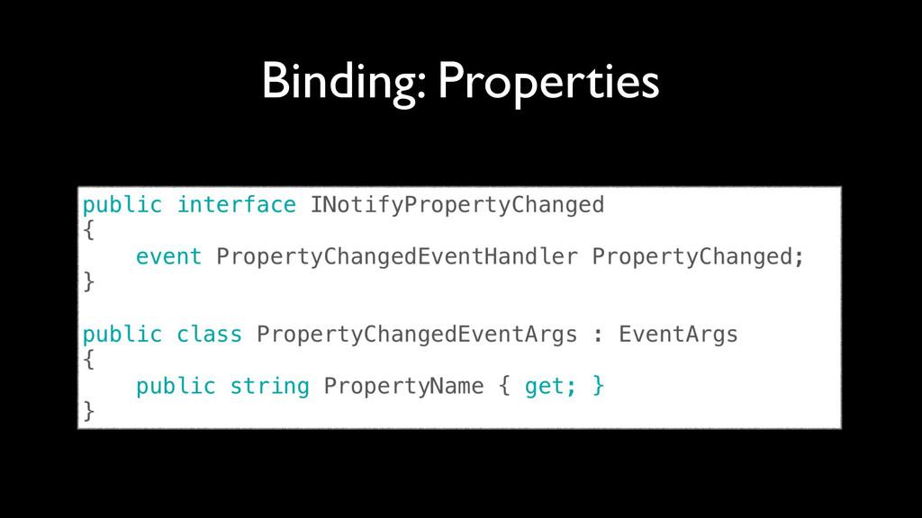 Binding: Properties