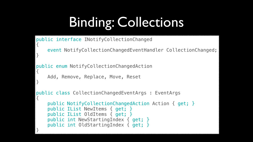 Binding: Collections