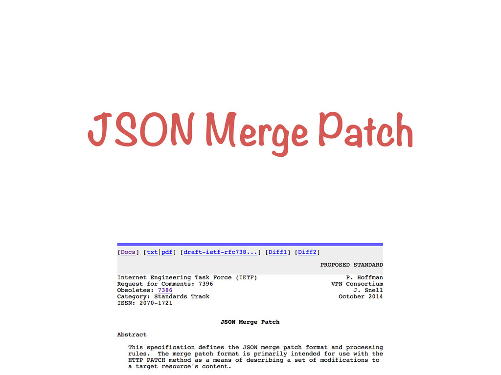JSON Merge Patch