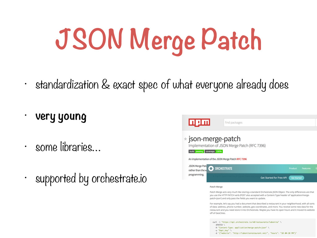 JSON Merge Patch • standardization & exact spec...