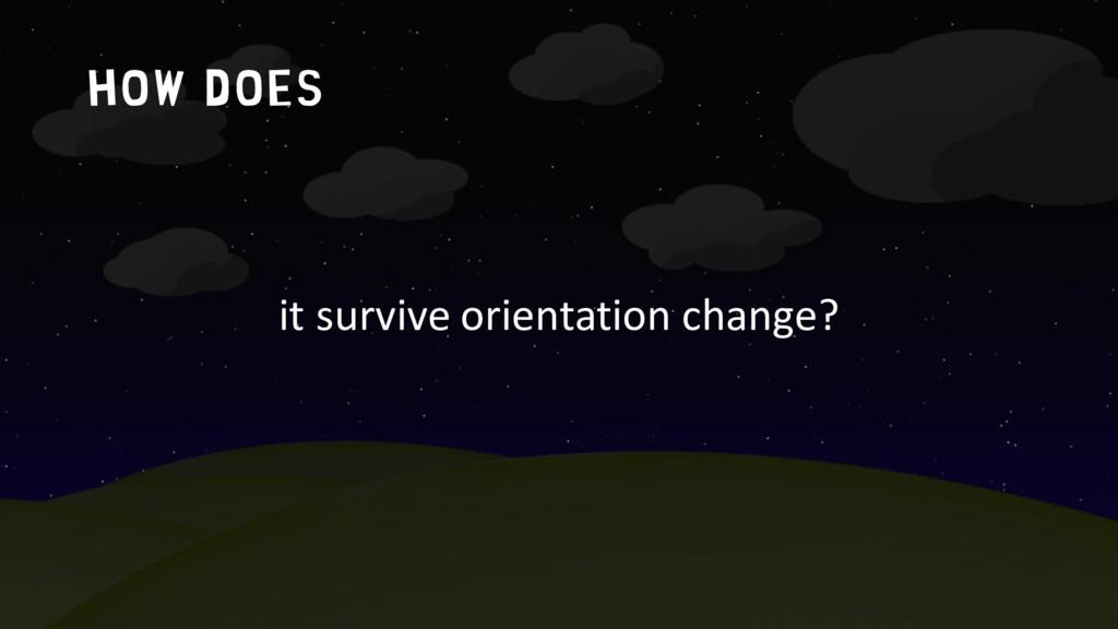 How does it survive orientation change?