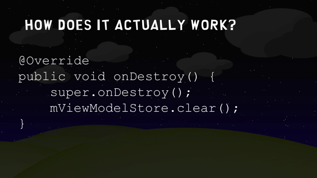 How does it actually work? @Override public voi...
