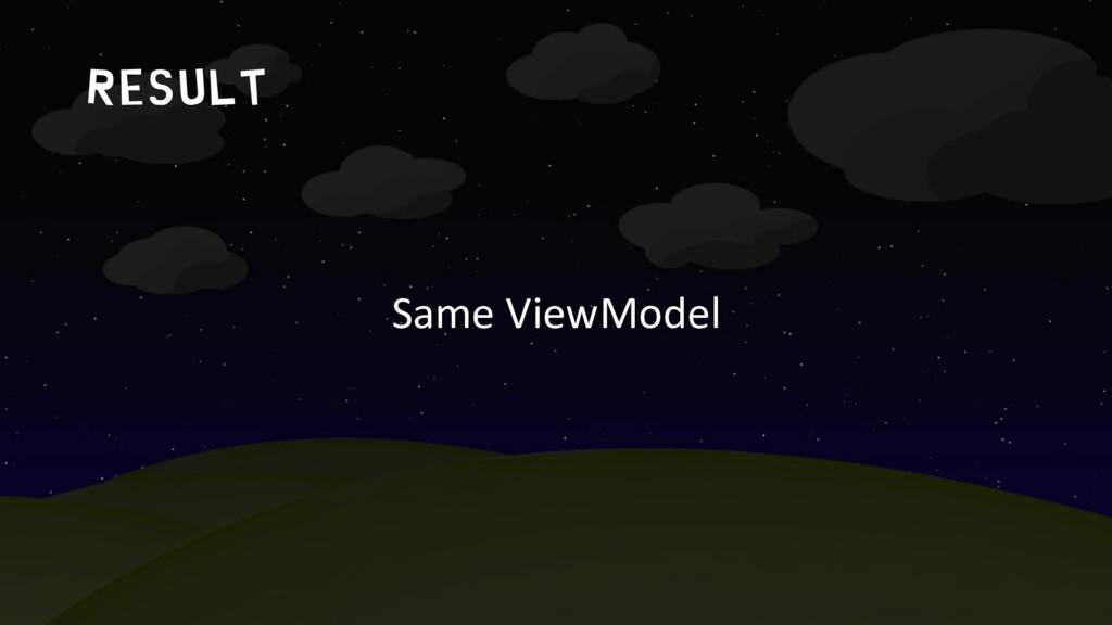 result Same ViewModel