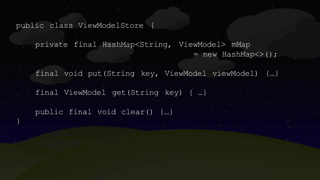 public class ViewModelStore { private final Has...