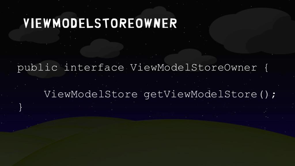 Viewmodelstoreowner public interface ViewModelS...