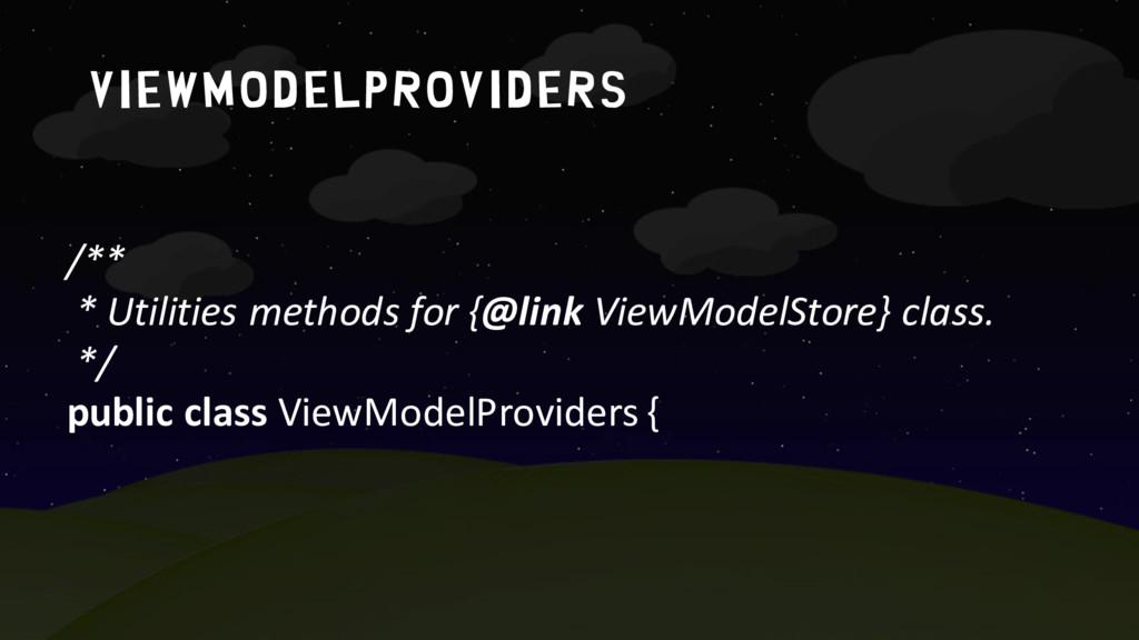 Viewmodelproviders /** * Utilities methods for ...