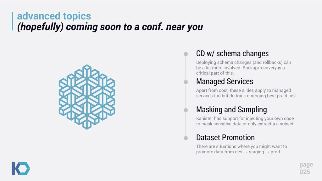 advanced topics (hopefully) coming soon to a co...
