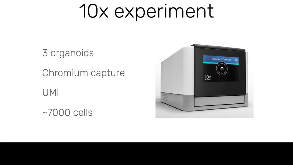 10x experiment 3 organoids Chromium capture UMI...