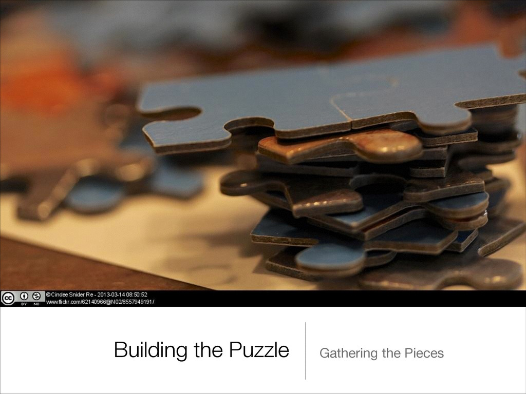 Building the Puzzle Gathering the Pieces
